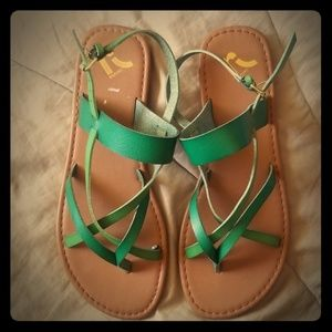 Report Thong Sandals w/Ankle strap